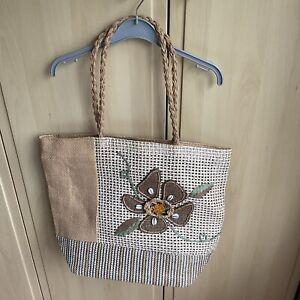 Straw Beach/Shopper Bag Lined