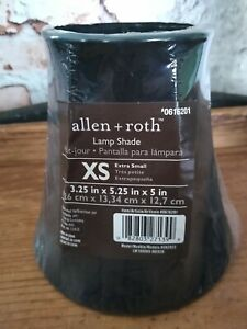 """ALLEN & ROTH EXTRA SMALL LAMP SHADES 3.25""""x 5.25""""x 5"""" BLACK"""