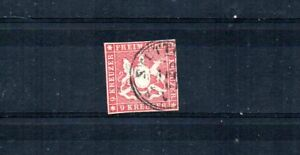 GERMAN STATE WURTTEMBERG. 1859  SCOTT# 17.  COAT-OF-ARMS.