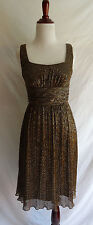 Joseph Ribkoff 4 Metallic Gold Silver Copper Cocktail Formal Party Dress