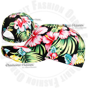 Hawaiian Hat Baseball Cap Adjustable Hawaii Floral Visor Blank Plain Men Women