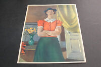 Nicolai Cikovsky-Charlotte From Virginia-Reproduction Print 1939 NY World's Fair