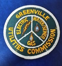 GREENVILLE, NORTH CAROLINA UTILITIES COMMISSION ELECTRIC WATER SEWER GAS PATCH