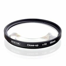 58mm +10 High Definition Close Up Macro Lens Sony Canon Nikon DSLR + FREE Pouch