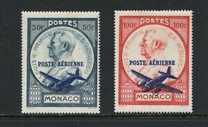 C397  Monaco  1946   airmails airplane OVERPRINTED  2v.      MNH