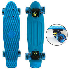 "Aqua Blue / Swirly Blue Wheels - 22"" Penny Style SkateBoard - New Collect Now !"
