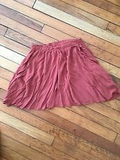 CUTE CORAL COLORED VICSO SHORT SKIRT SIZE SMALL WITH POCKETS