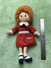 "Knickerbocker LITTLE ORPHAN ANNIE 16"" Cloth Doll Plush Vintage 1982"