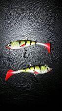 2 x Soft ALOSA esca da pesca luccio pesce persico cavedano trota bass mare esca Spinner 8.5cm