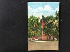 Florence, South Carolina First Baptist Church postcard unposted 41065