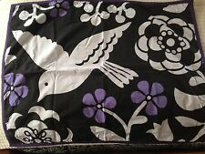 Dwell Studio For Target Pillow Sham Bird Flower MODERN Black White Purple~ NWOT