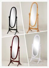 Classic Adjustable Oval Wooden Bedroom Freestanding design Floor Mirror