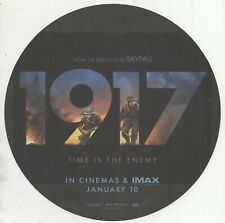 """1917 CINEMA ART CARD PROMOTIONAL CIRCULAR MINI POSTER - DOUBLE SIDED - 8"""""""