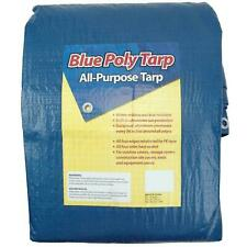 Sigman Blue Tarp 5 ft x 7 ft All Purpose Poly Fabric Water Tearing Uv Resistant