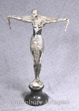 ART Deco Argento Placcato Statua in Bronzo Chiparus Danzatrice Firmata Casting