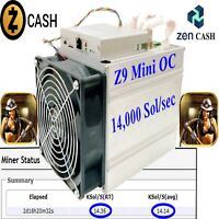 Equihash 168Hrs 14,000 Sols/sec Mining Contract Z9 mini ZEN / Zcash 1 FULL Week!