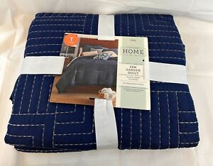 JC Penney Home Collection Zen Garden Quilt Blue Twin Size