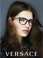NEW Genuine VERSACE METAL MESH Black EyeGlasses Frame Glasses VE 3240 GB1 54