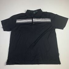 Hugo Boss Golf Mens  Short black color Sleeve Polo Shirt Size XL