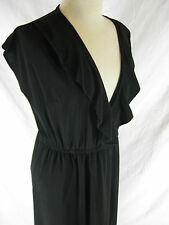 Great Sz 12 New Cover LBD Ruffle Dress Designer
