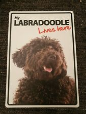My LABRADOODLE Lives Here A5 Plastic Sign bargain cheap