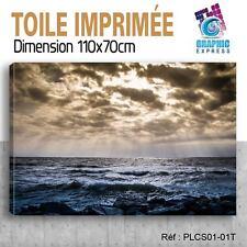 110x70cm - TOILE IMPRIMEE- TABLEAU  POSTER DECO - OCEAN - MER - PLAGE - PLCS1-01