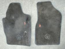1989 1990 1991 Chrysler Tc Maserati Floor Mats Original Oem Black