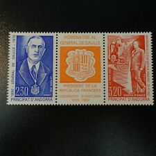 ANDORRA FRANCÉS Nº399A GENERAL GAULLE NEUF LUXE GOMA ORIGINAL MNH