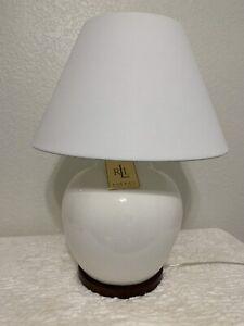 Ralph Lauren Home Collection Mandarin Cream White Crackled Ginger Jar Lamp New
