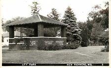 c1940 RPPC Postcard City Park Bandstand New Richmond WI 3 St. Croix County