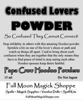 Confused Lovers Hoodoo Voodoo Powder Love Curse Sex Impotence Chastity Break Up