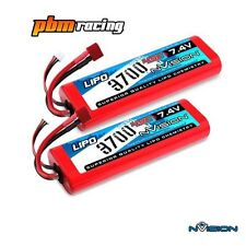 NVision Sport 3700 7.4v 45C Lipo RC Batteria HARD CASE DEANS Twin Pack NVO1110
