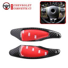 Fits for Chevrolet Corvette C7 Real Carbon Fiber Steering Wheel Shift Paddle BK