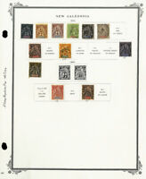 New Caledonia 1800s to 2000s Mint & Used Stamp Collection