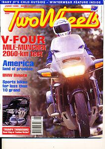 Two Wheels Magazine June 1995 #2 Bimota Supermono Thunderbird Honda ST1100