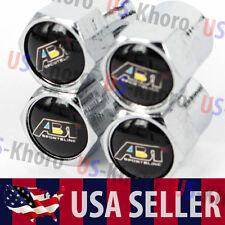 ABT Sportsline Audi Logo Valves Stems Caps Covers Chromed Wheel Tires Emblem USA