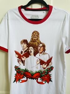 Star Wars Christmas Carol Singers White T-Shirt Size Small - As New!