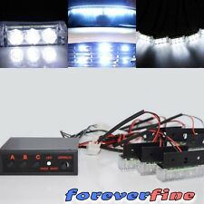 PICKUP TRUCK SAFETY STROBE FLASHING WHITE LED PANEL DASH EMERGENCY LIGHT
