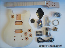 DiY Electric Guitar kit - LP Double Cut mahogany/flame maple