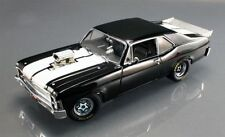 70 CHEVROLET NOVA 1320 DRAG KING BLOWN BLACK WHITE RACING STRIPES GMP 1:18 NHRA