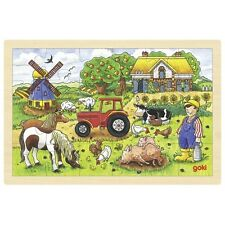 Puzzle en bois 24 pièces : La ferme des meuniers