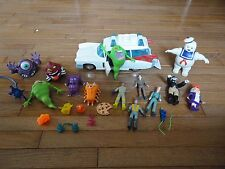 Ghostbusters Toy 25 Piece Lot Ecto 1 Car Action Figures Ghosts Guns
