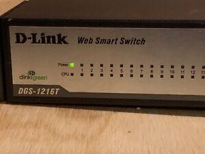 D-Link DGS-1216T 16 Port 10/100/1000 Gigabit Ethernet Network Switch works great