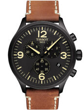 NEW TISSOT CHRONO XL BLACK DIAL BROWN LEATHER MENS WATCH :T116.617.36.057.00