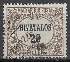Ungarn Briefmarke gestempelt alt Altwert 20 Filler Hivatalos / 1598