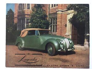 Lagonda 2 1/2 lire saloon & coupe 1949 brochure