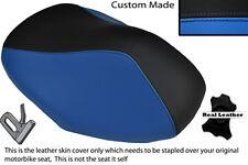 Black & light blue custom fits MBK YQ 100 NITRO Housse Siège Avant