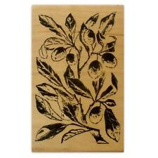 PLUM BRANCH mounted rubber stamp, fall harvest #1