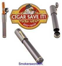 Cigar Save It Gunmetal Telescopic Single Cigar Case BRAND NEW