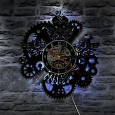 Gear Wall Clock Modern Design LED Lighting Vinyl Clocks Wall Watch Home Decor